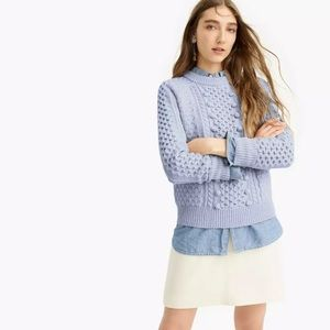NWT J. Crew Cable Knit Popcorn Sweater